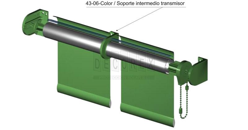 Tejidos para cortinas decorex sistemas de cortinas for Soporte para cortinas