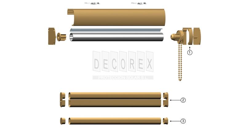 Tejidos para cortinas decorex sistemas de cortinas enrollables caj n de 51 - Sistema persianas enrollables ...