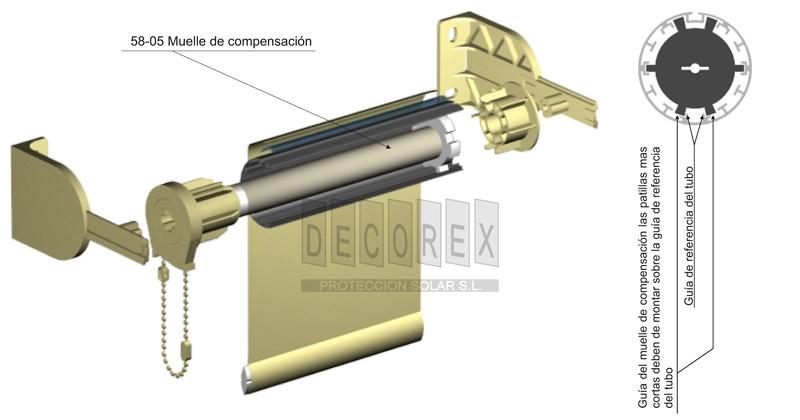Tejidos para cortinas decorex sistemas de cortinas enrollables de 58 - Sistema persianas enrollables ...
